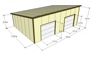 Проекты гаражей из сэндвич-панелей фото